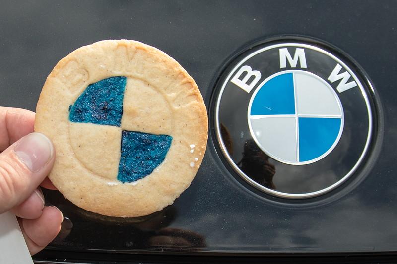 77. Südhessen-Stammtisch: die BMW Cookies von Ralf ('Ralle735iV8') haben original Größe