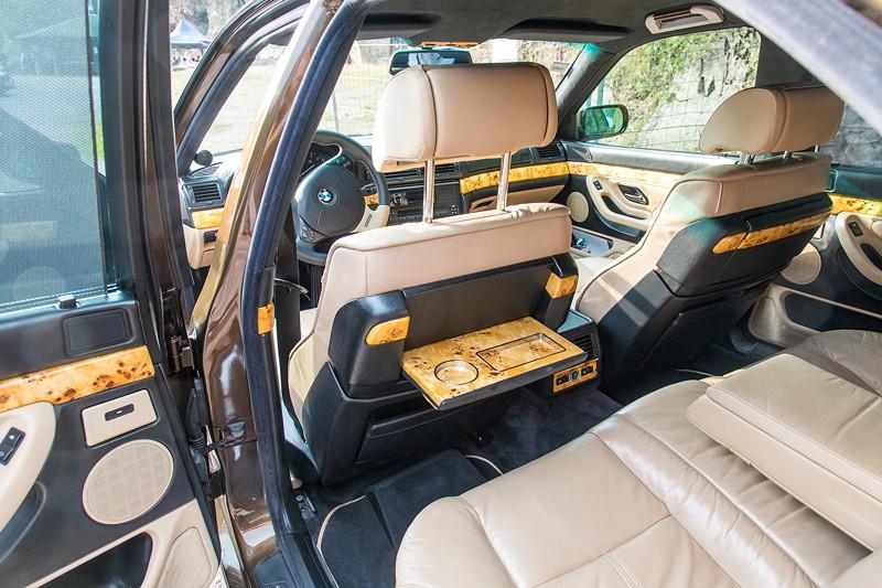 77. Südhessen-Stammtisch: BMW 730i (E38) von Ralf ('Ralle735iV8') mit Highline Fond Ausstattung