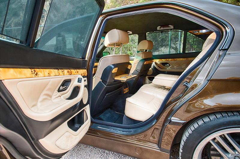 BMW 730iA V8 (E32) von Ralf ('Ralle735iV8') mit heller Lederausstattung und Pappelholz