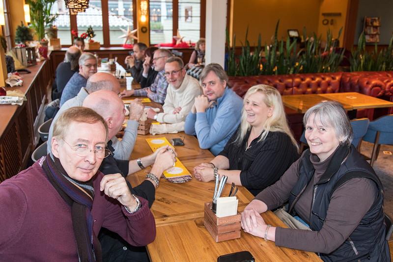 Rhein-Ruhr-Stammtisch im Dezember 2017 im Café del Sol in Castrop-Rauxel.