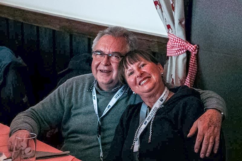 Südhessen-Stammtisch am 03.12.2017 in Lich Arnsburg: Karl-Heinz ('Fuat') mit Frau Sigrid.