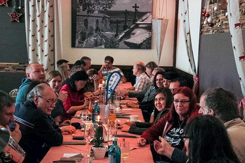 Südhessen 7er-Stammtisch am 1. Adventssonntag im Dezember 2017 in Lich Arnsburg.
