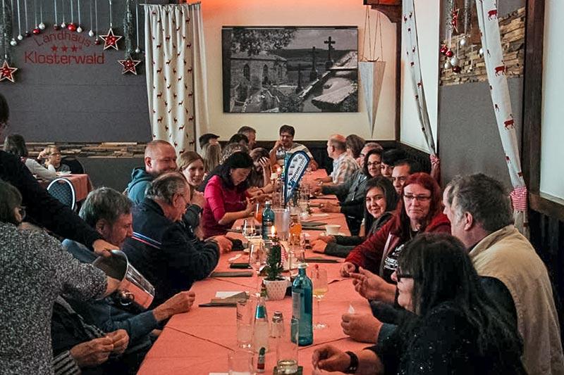 Südhessen-Weihnachtsstammtisch im Landhaus 'Klosterwald' am 03.12.2017 in Lich Arnsburg.