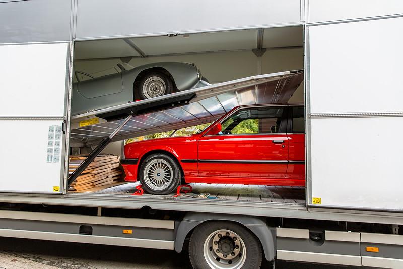 20 Jahre BCD Treffen: Anlieferung der BMW Classic Fahrzeuge per Transporter.