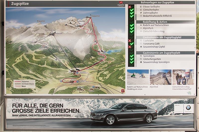 BMW als Partnerstadt von Garmisch Partenkirchen ist auch auf dem Weg zur Zugspitze präsent.