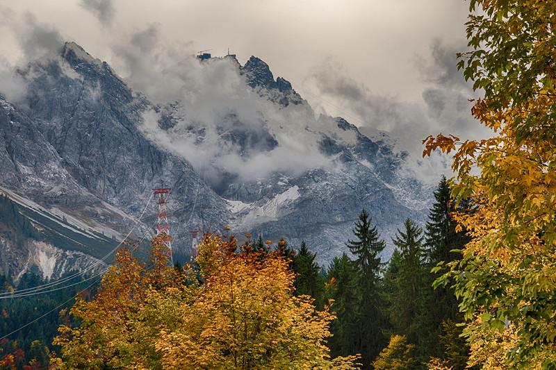 Blick auf Deutschlands höchsten Berg: die Zugspitze