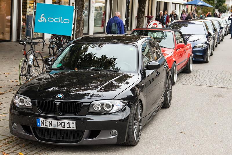 20 Jahre BCD Treffen: Teilnehmerfahrzeuge in der Fußgängerzone von Garmisch Partenkirchen.