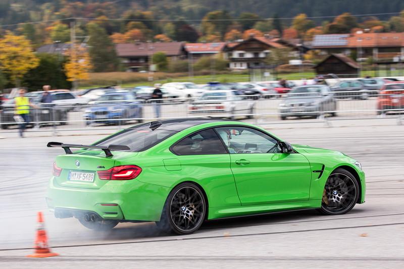 20 Jahre BCD Treffen: BMW M4 mit BMW Werksfahrer Jens Klingmann am Steuer.