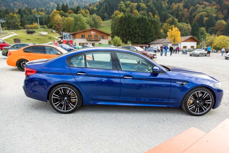 20 Jahre BCD Treffen: BMW M Ausstellung am Hausberg, mit dem ganz neuen BMW M5