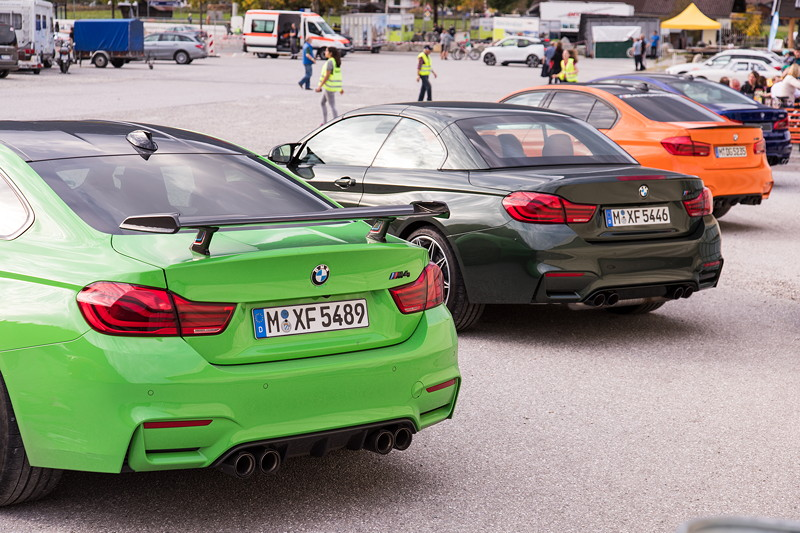20 Jahre BCD Treffen: BMW M4, BMW M4 Cabrio, BMW M3 und BMW M5