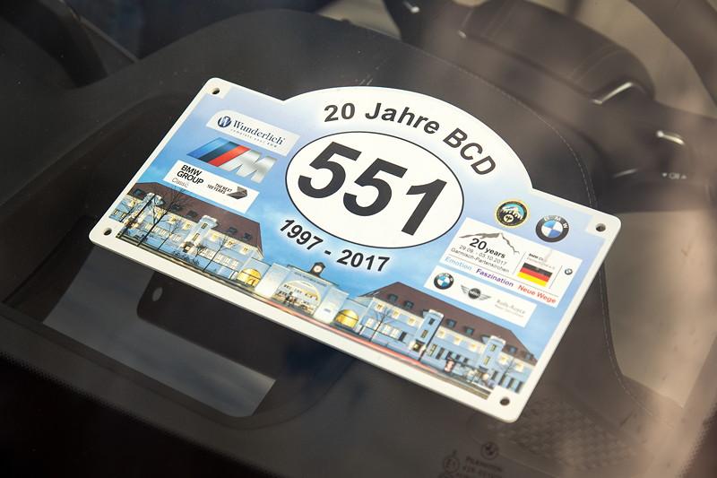 20 Jahre BCD Treffen: jeder Teilnehmer bekam ein Teilnahme-Schild mit Start-Nr.
