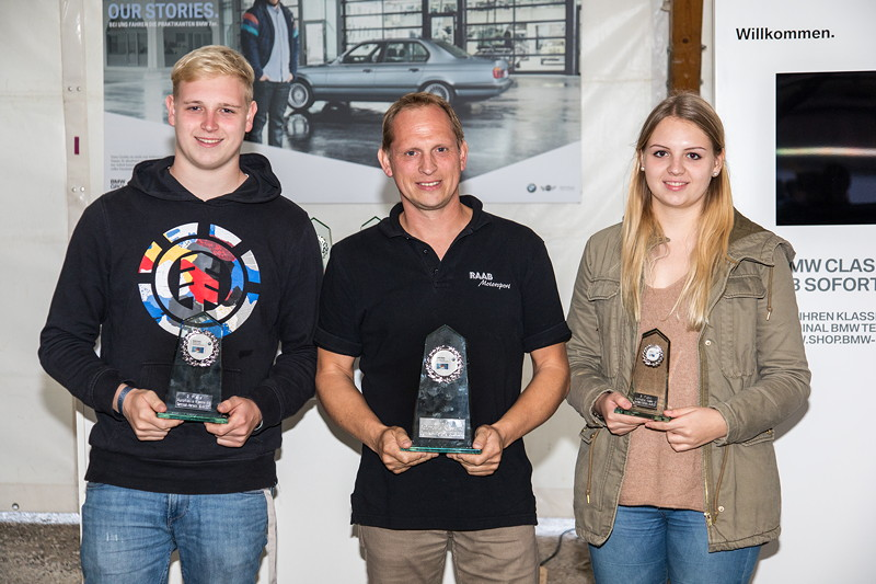 Slalom Cup Finale, Ehrung in Klasse 4d (Sonderklasse, modifiziert bis 2.200 ccm), Familie Ehrmann siegten auf Platz 1 mit Sven, Platz 2 Jan und Platz 3 Jasmin Ehrmann, alle vom BC Rothenburg.