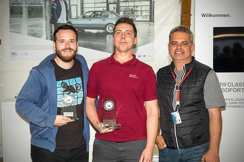 Slalom Cup Finale, Ehrung in Klasse 4e (Sonderklasse, modifziert von 2.200 bis 3.000 ccm): 1. Philip Reingruber, 2. Florian Leidenberger (beide BC Rothenburg) und 3. Thomas Wanner (ohne Club).
