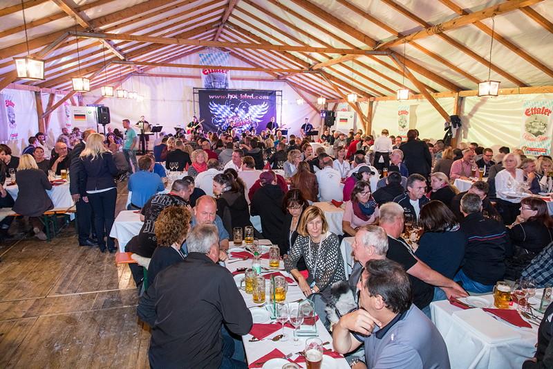 20 Jahre BCD Treffen, Festabend im Festzelt am Samstagabend.