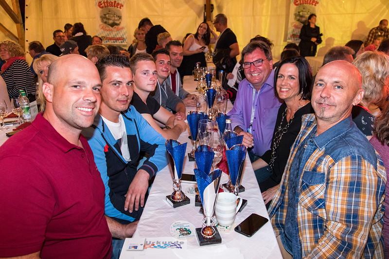 20 Jahre BCD Treffen, Festabend im Festzelt am Samstagabend, BMW Club Rothenburg o. d. Tauber mit besonders vielen Pokalgewinnern im Slalom Cup 2017.