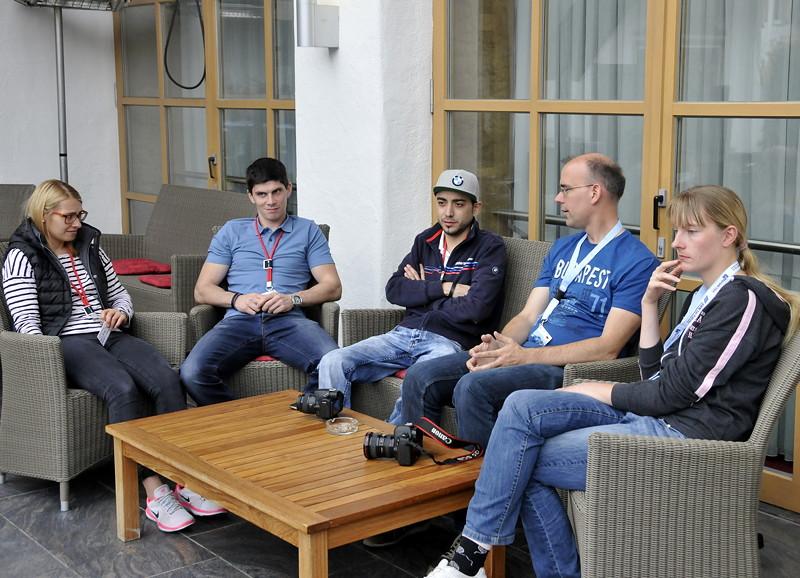 20 Jahre BCD Treffen: Begrüßung der Teilnehmer auf der Terrasse des Casinos in Garmisch Partenkirchen.