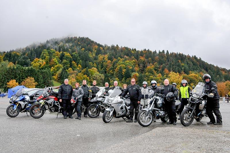 20 Jahre BCD Treffen, BMW Motorrad Ausfahrt: 220 km Panorama-Tour durch die Berge.