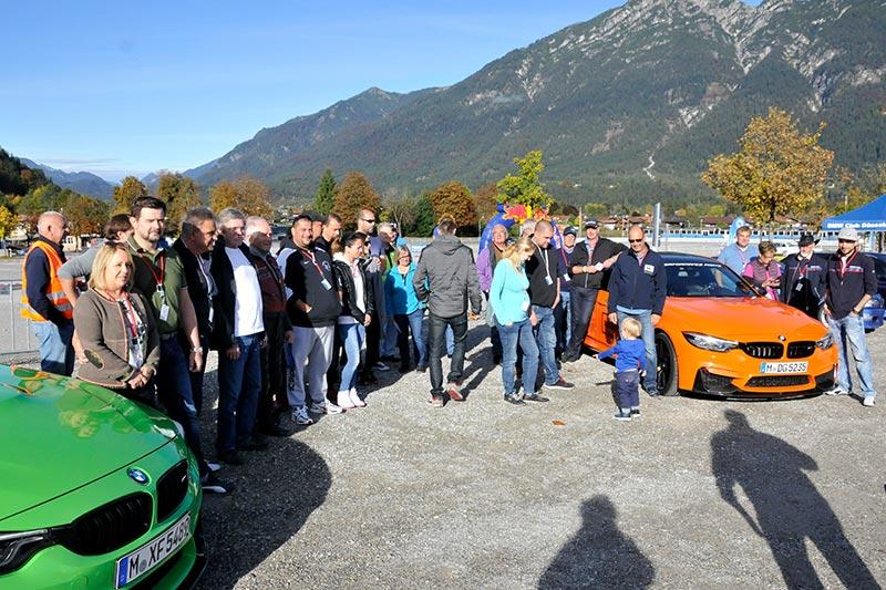 20 Jahre BCD Treffen, Bergrennen am Montag, Fahrerbesprechung am Hausberg.