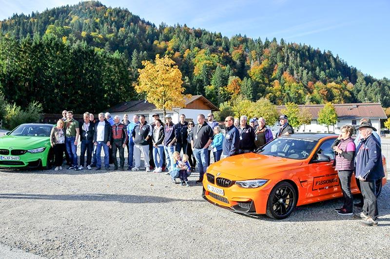 20 Jahre BCD Treffen, Bergrennen am Montag, Einweisung der Teilnehmer durch den AC GAP Vorsitzenden Christian Pomplun.