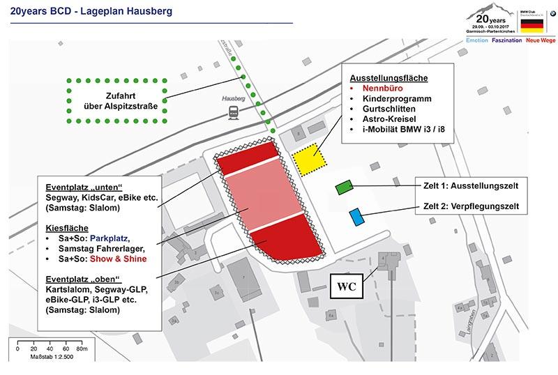 20 Jahre BCD Treffen: Lageplan