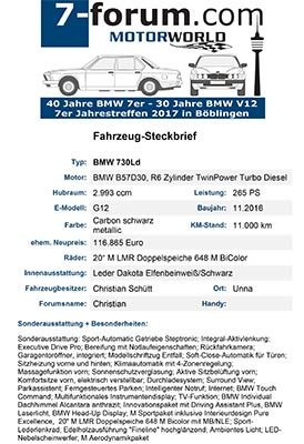 Fahrzeug-Steckbrief, exemplarisch ausgefüllt