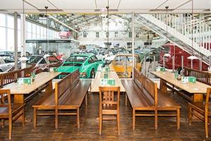 Restaurant Wichtel in der Motorworld: hier findet die Abendveranstaltung am Freitag und Samstag statt