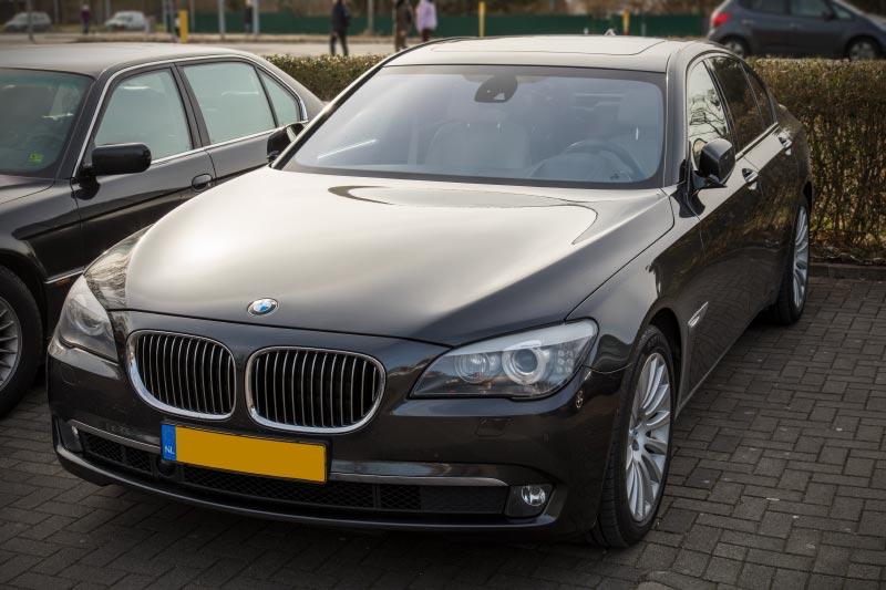 BMW 740i (F01) von Edwin ('Homerraas') beim Rhein-Ruhr-Stammtisch im März 2018.