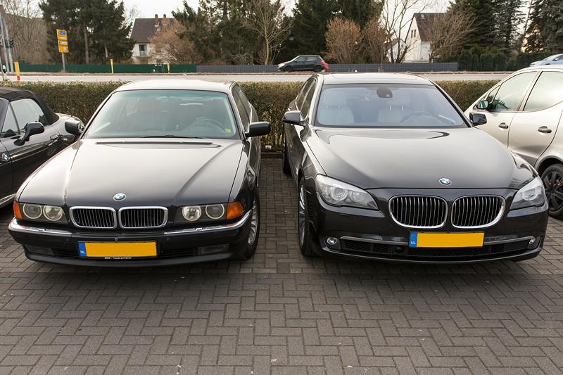 BMW 750i (E65 LCI) von Manfred ('mannylein') beim Rhein-Ruhr-Stammtisch im März 2018 in Castrop-Rauxel.