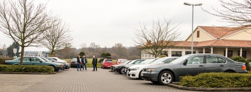 Rhein-Ruhr-Stammtisch im April 2018: Panorama vom Stammtisch-Parkplatz