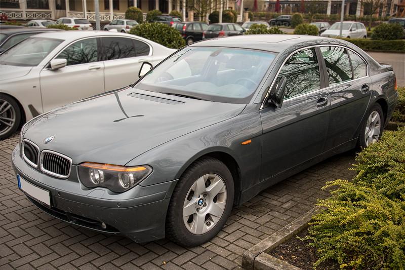 7er-BMW der vierten Modellgeneration E65, heute erstmals beim Rhein-Ruhr-Stammtisch