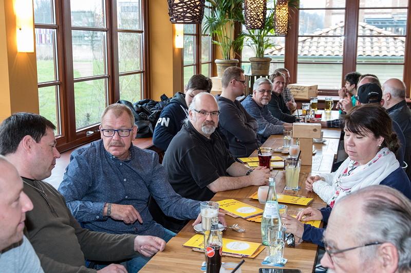 Rhein-Ruhr-Stammtisch im April 2018 im Café del Sol in Castrop-Rauxel
