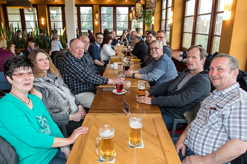Rhein-Ruhr-Stammtisch an Ostrsonntag 2018 im Café del Sol in Castrop-Rauxel