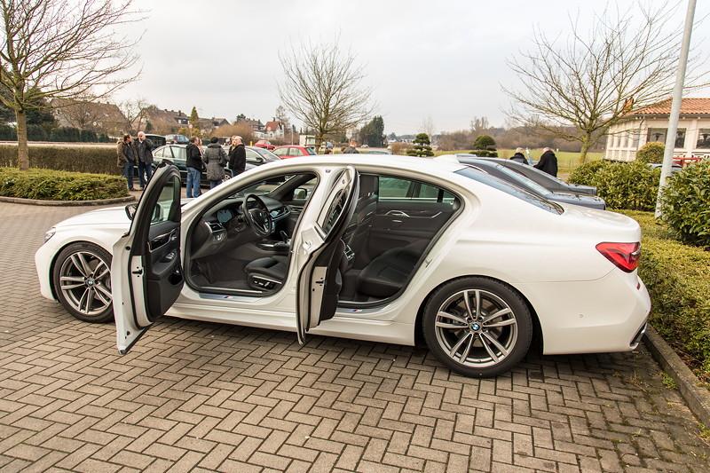 BMW 730d (G11), Firmenwagen von Ralf ('Ralle735iV8') beim Rhein-Ruhr-Stammtisch im April 2018.