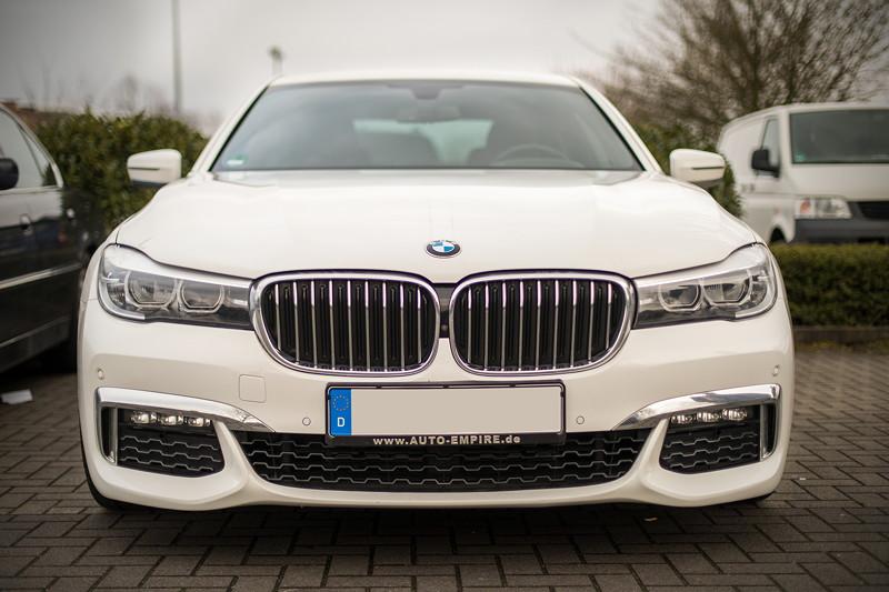 BMW 730d (G11) mit BMW M Paket, Firmenwagen von Ralf ('Ralle735iV8') beim Rhein-Ruhr-Stammtisch im April 2018.