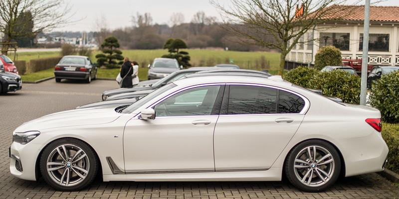 Ralf ('Ralle735iV8') kam erstmals zum Rhein-Ruhr-Stammtisch - mit einem Firmenwagen, BMW 730d (G11)
