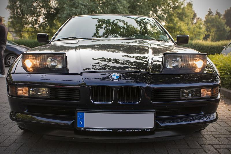 BMW 850i (E31) von Frank ('heliman4'), Vorderansicht mit geöffnenten Schlafaugen