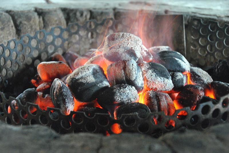 Grill-Stammtisch der Südhessen im Juli 2018: auf diesen Kohlen wurde gegrillt.