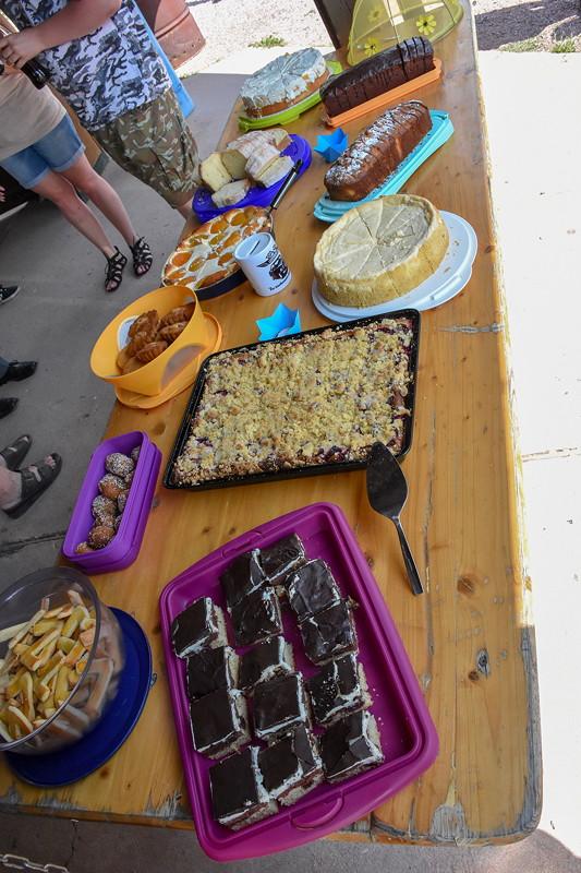 Grill-Stammtisch im Juli 2018: Kuchenbuffet - mit selbst durch die Teilnehmer gebackene Kuchen