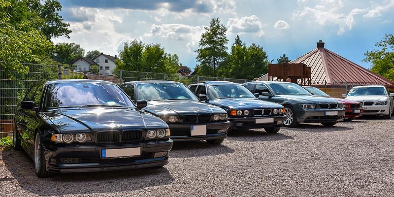 Teilnehmerfahrzeuge an der Grube Wilhelmine in Sommerkahl