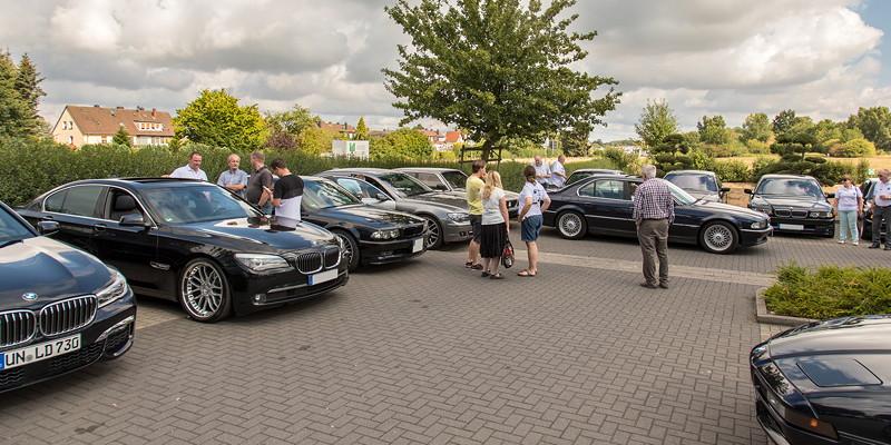 Kurz vor der Abfahrt zur BMW Scene Show 2018 auf dem Stammtischparkplatz in Castrop-Rauxel.