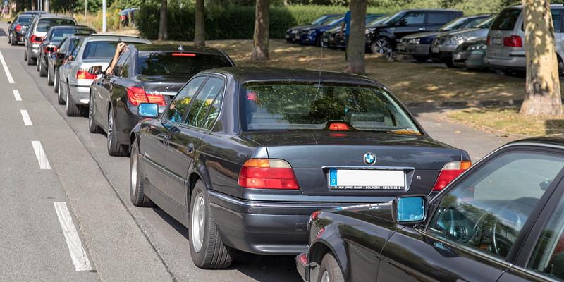 7er-Konvoi ab Castrop-Rauxel zur BMW Scene Show 2018 in Recklinghausen.
