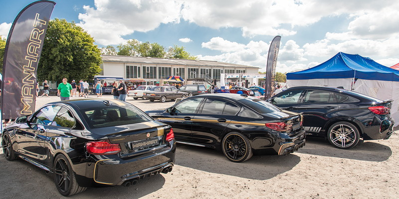 Manhart Performance mit drei Fahrzeugen als Aussteller auf der BMW Scene Show 2018.