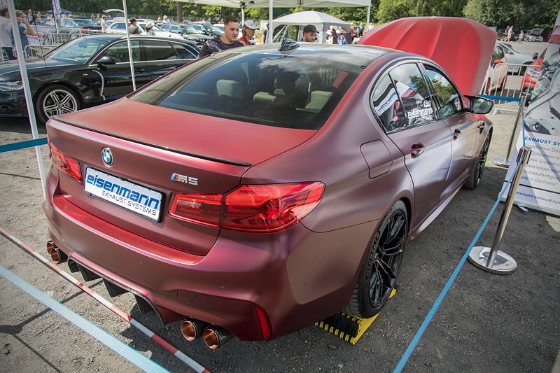 BMW Scene Show 2018: 5er-BMW (G30) auf dem Stand von Eisenmann.
