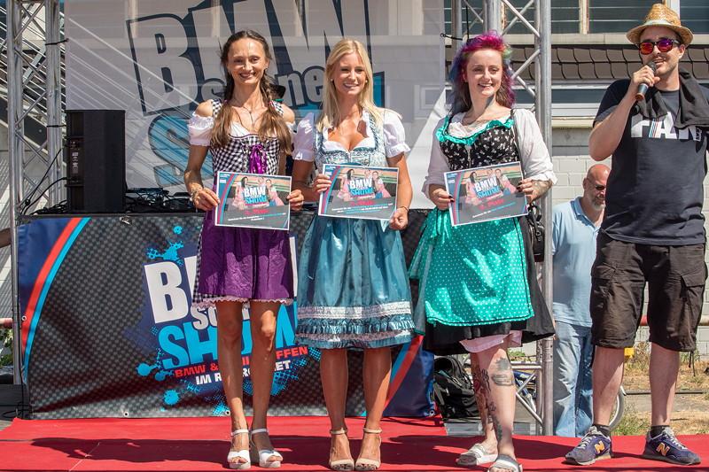 BMW Scene Show 2018: die drei Siegerinnen beim Dirndl Contest