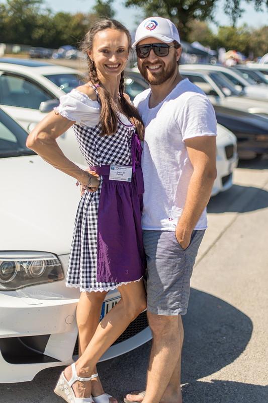 Polina ('Engel 07') und Giray ('BMW-Freak') bei der BMW Scene Show 2018.