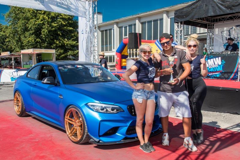 BMW Scene Show 2018: Der Besitzer dieses schicken BMW M2 Coupé gewann einen Pokal 'Best of Show'.