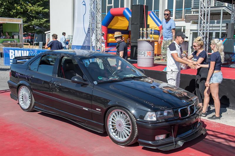 BMW Scene Show 2018: BMW 3er Cabrio (E36/C) bei der Siegerehrung in Recklinghausen.