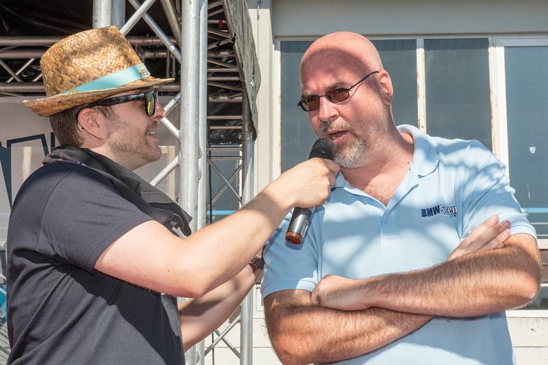BMW Scene Show 2018: zum Abschluss der Veranstaltung wurde Frank Schwichtenberg von Moderator Dennis Gauert interviewt.