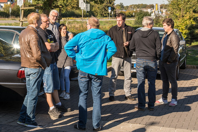 Rhein-Ruhr-Stammtisch im Oktober 2018: auf dem Stammtisch-Parkplatz