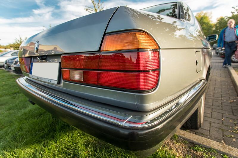 Rhein-Ruhr-Stammtisch im Oktober 2018, BMW 730i (V8, E32) von Eberhard ('ebbi')
